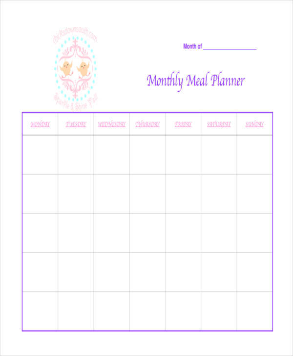 monthly meal calendar2