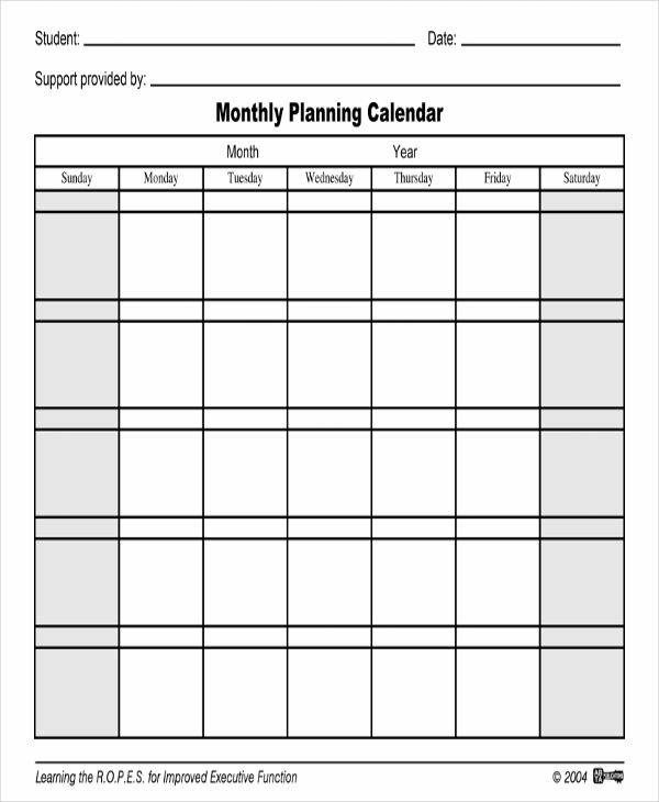 Printable Calendar Samples  Templates  Pdf Doc