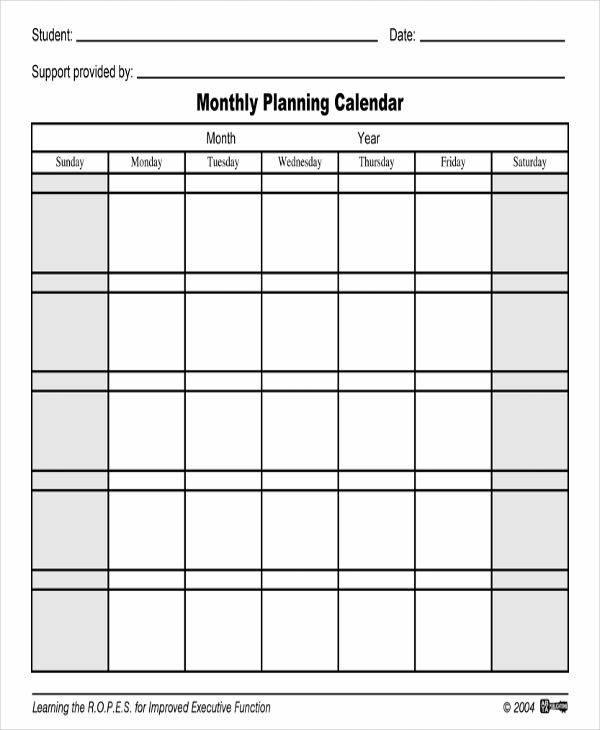 monthly planning calendar1
