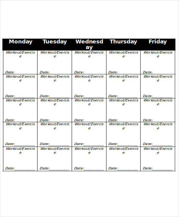 monthly workout calendar3