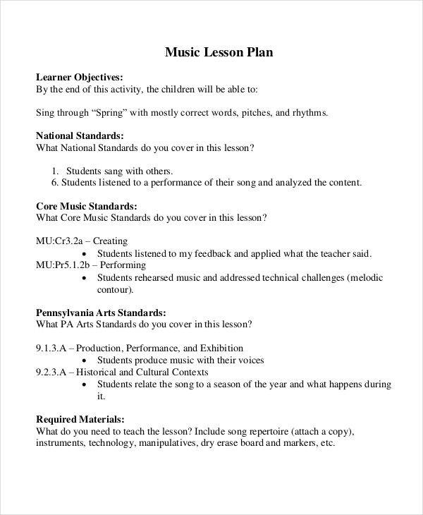 music lesson plan1