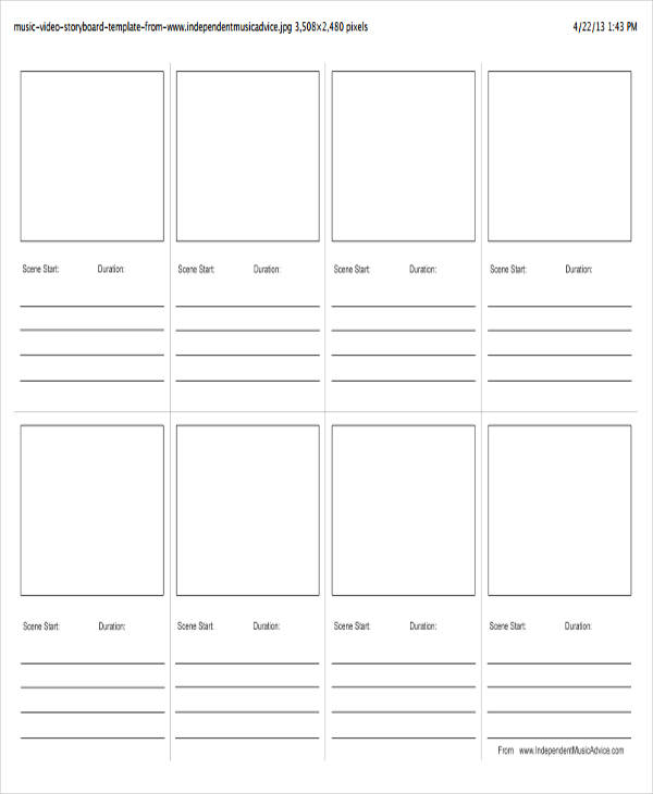 35+ Sample Professional Storyboard Templates