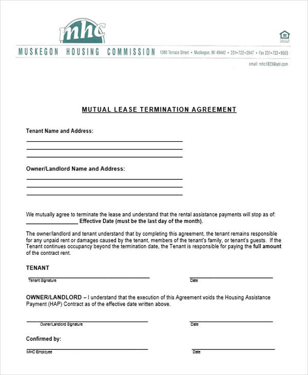 mutual contract termination