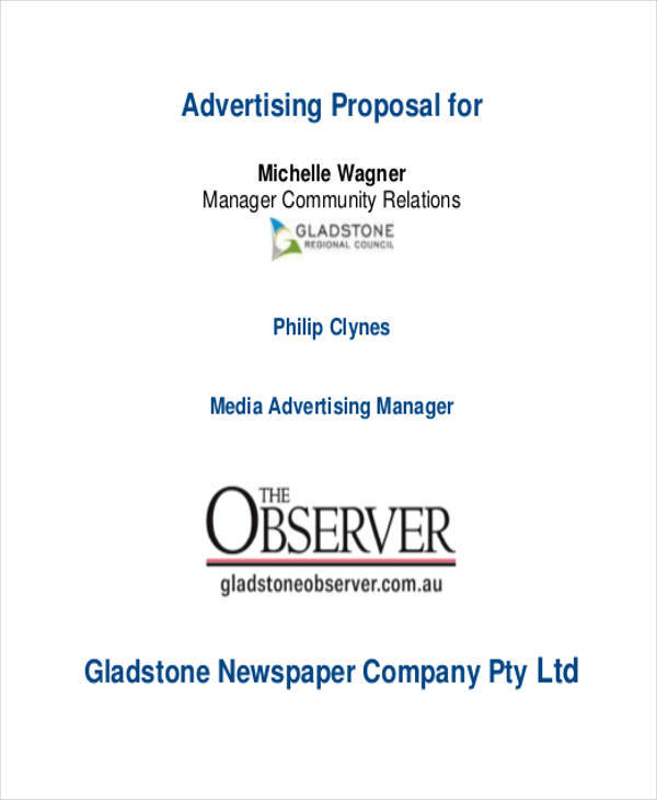 newspaper advertising proposal