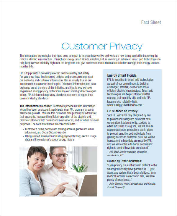 online customer privacy