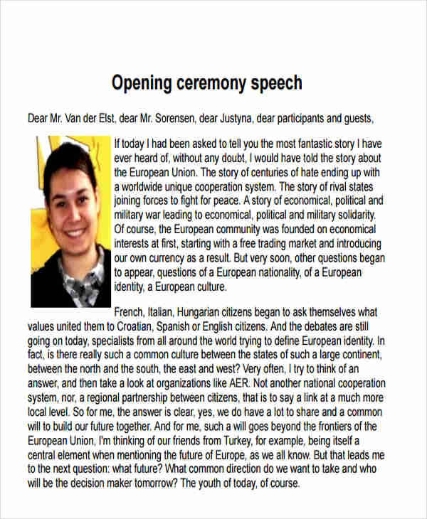 opening ceremony speech