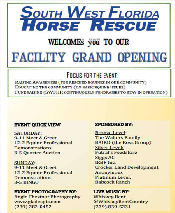 opening event program
