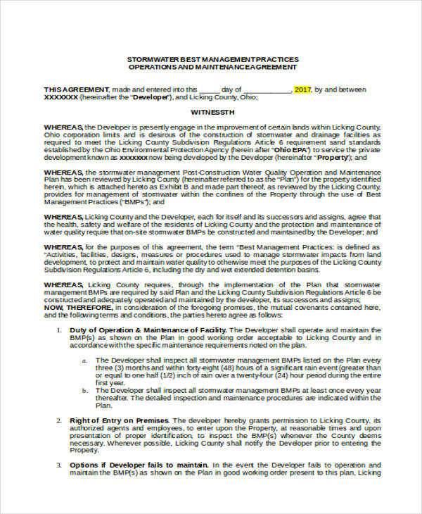 operations and maintenance contract1