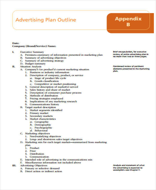 Advertising Plan Samples  Templates In Pdf