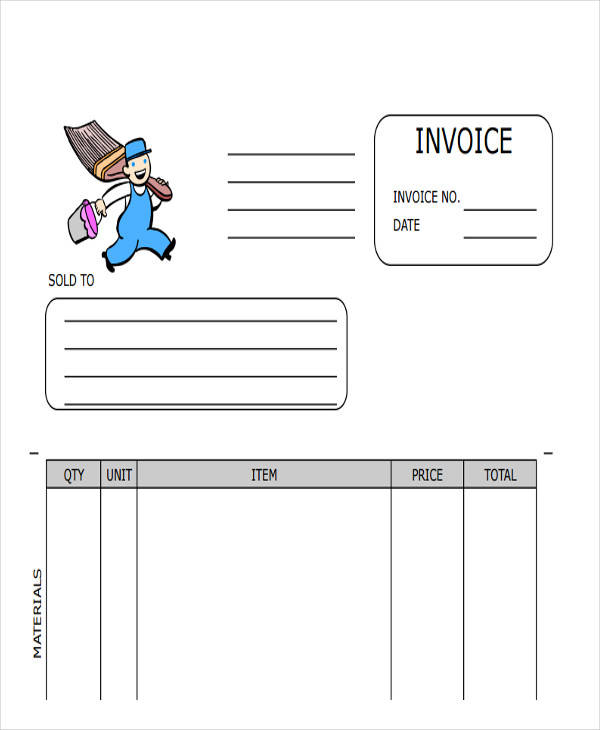 Painting invoice template 28 images receipt invoice for House painting invoice template