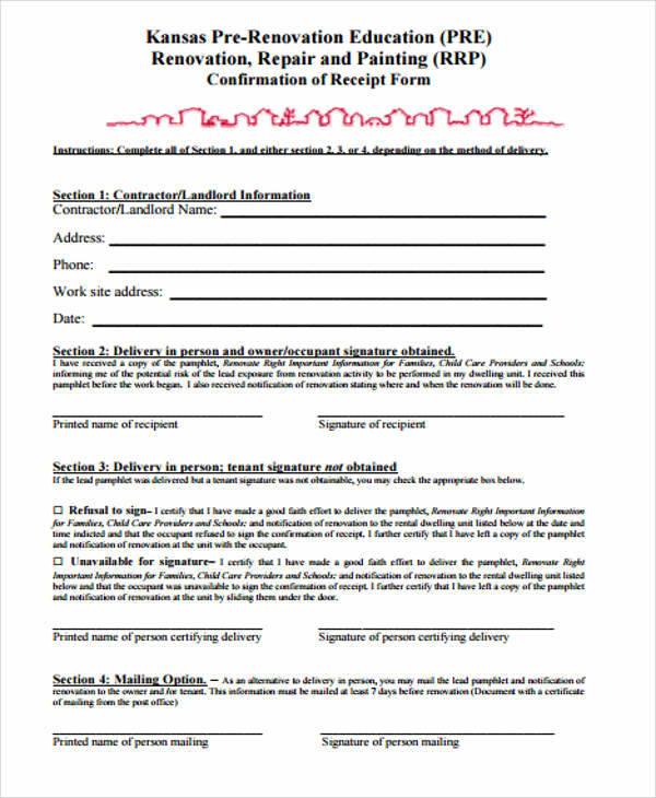 10  contractor receipt templates