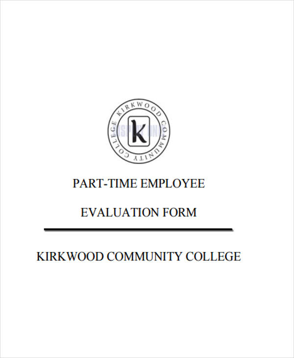 part time employee evaluation
