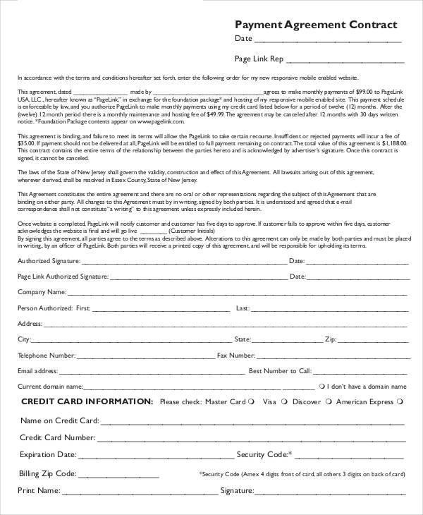 Payment Agreement Contract Template Vosvetenet – Personal Loan Agreement Contract Template