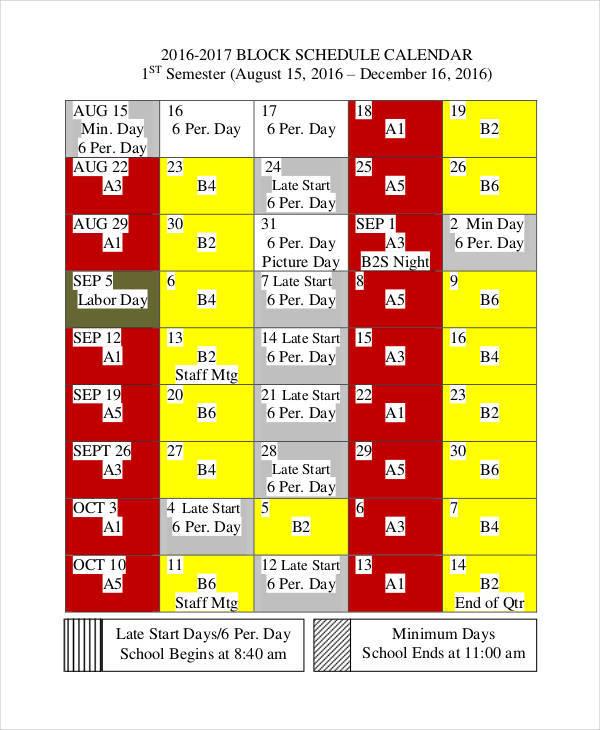 perpetual block calendar