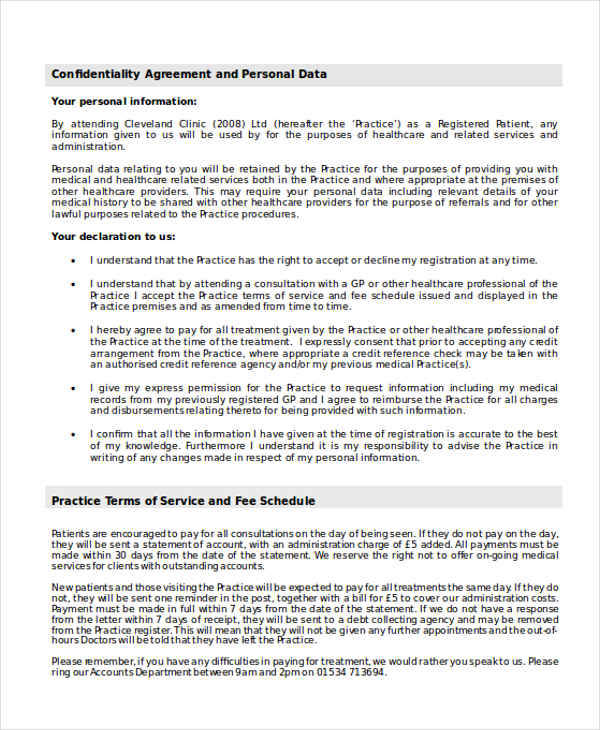 Data Confidentiality Agreements  Free Sample Example Format