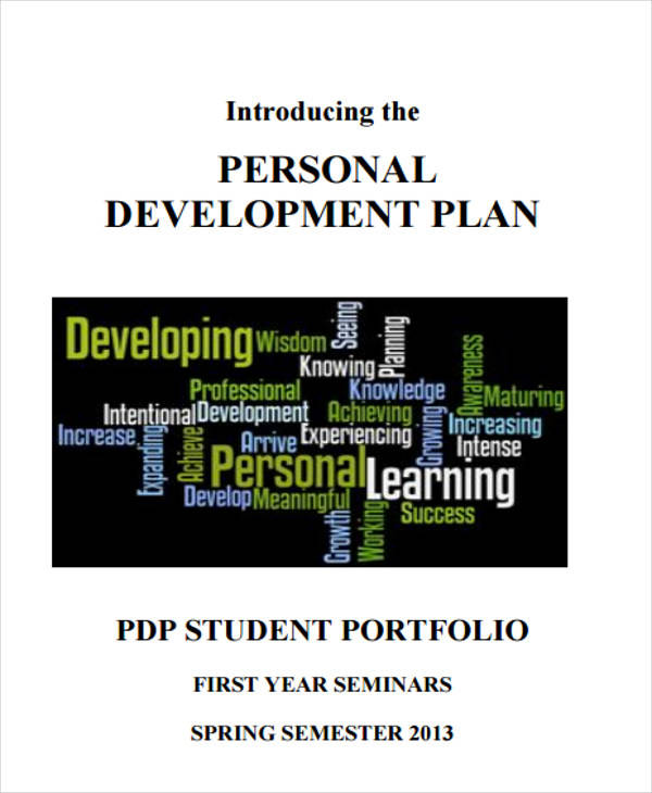 personal development plan sample