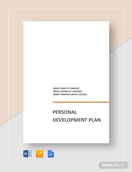personal development plan template1