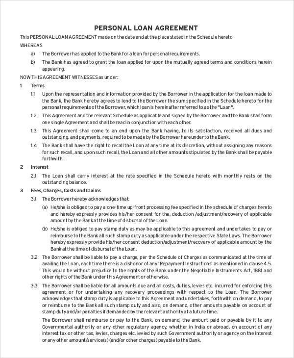 personal loan contract1
