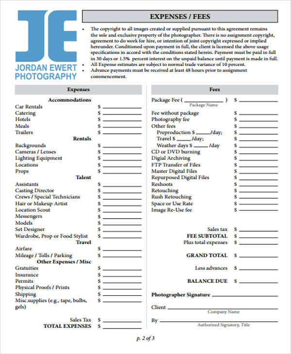 photography business invoice