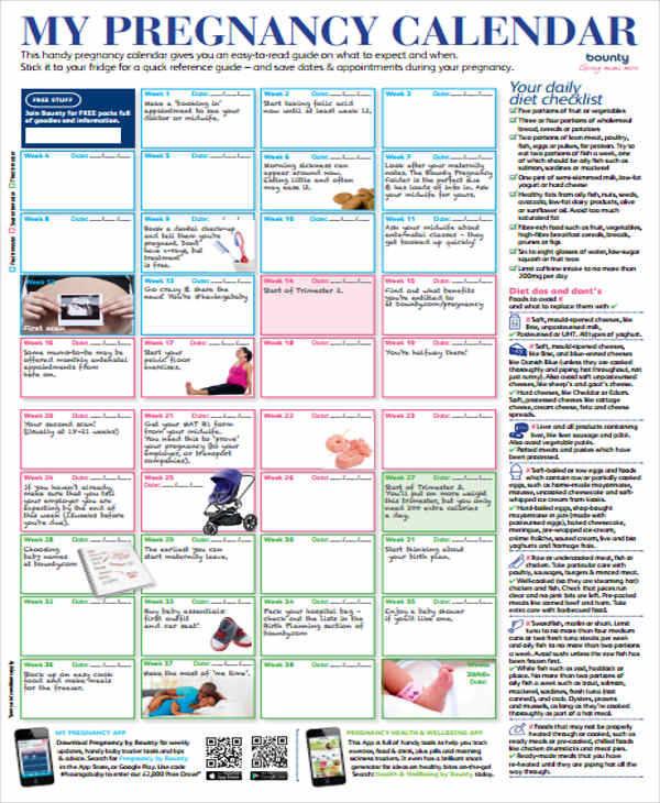 pregnancy countdown calendar1