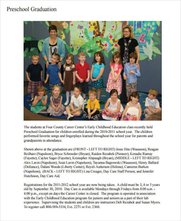 preschool graduation program