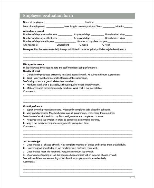printable employee evaluation2