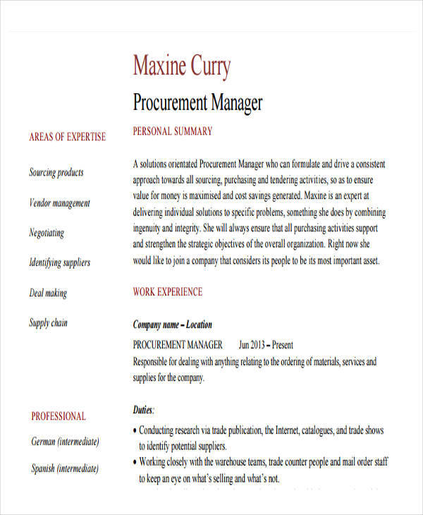 43 manager resumes in pdf