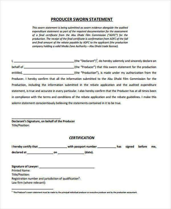 37  statement formats  u0026 templates in pdf
