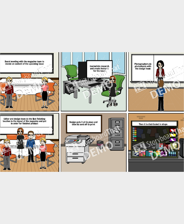 4 magazine storyboard samples templates pdf doc production of magazine saigontimesfo