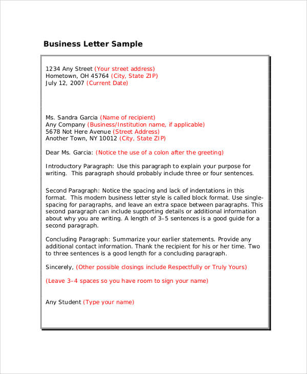 buisness letter format professional letter and email writing guidelines 4777