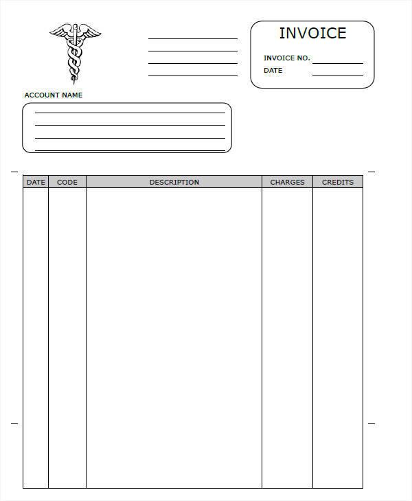 proforma invoice for health service