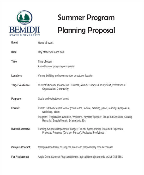 8 Program Proposal Samples Templates In Pdf