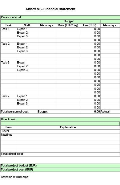 project contract template in excel