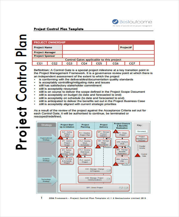 Control Plan Samples  Templates In Pdf