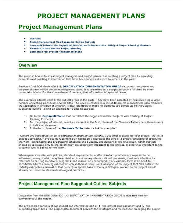 project management plan2