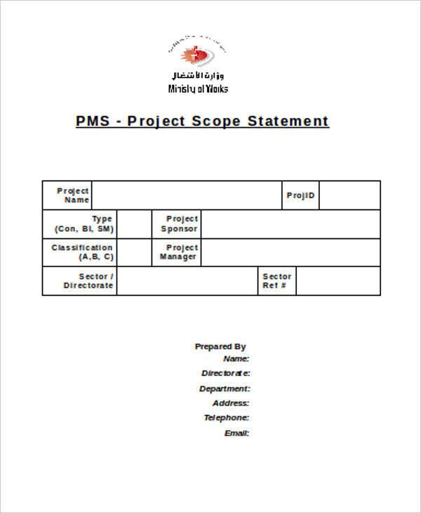project scope statement1