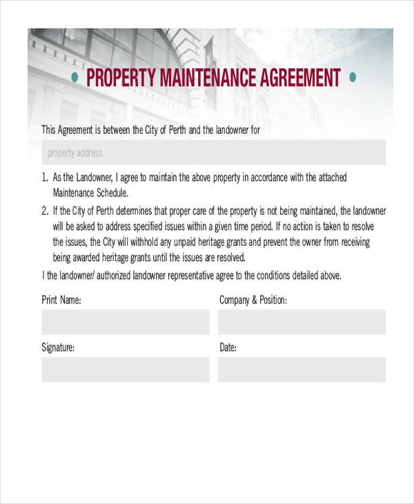 property maintenance contract1