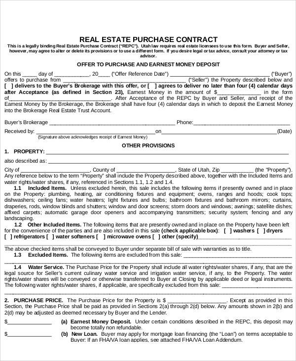 8+ Purchase Contract Templates - Free Documents In Pdf, Word