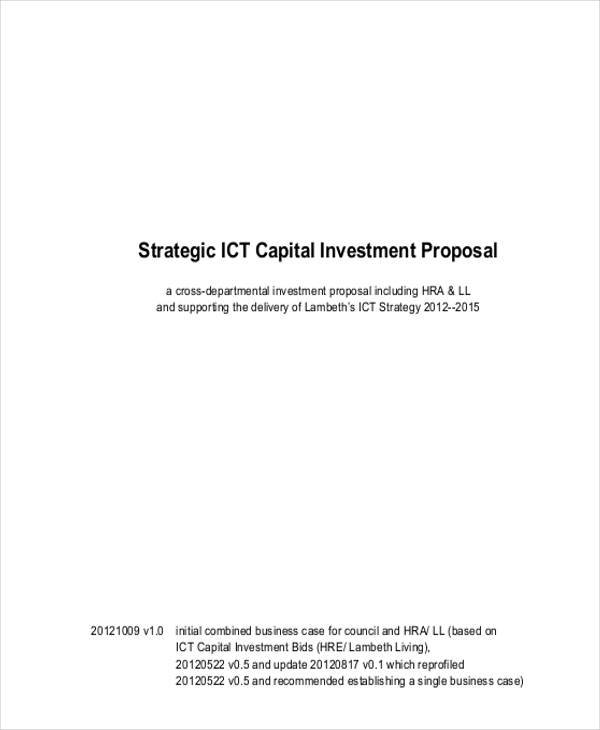 proposal for capital investment