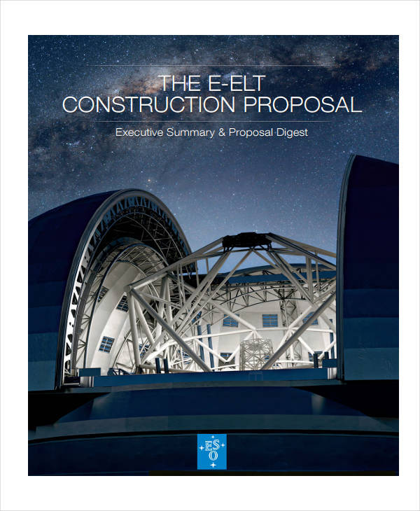 proposal for construction company