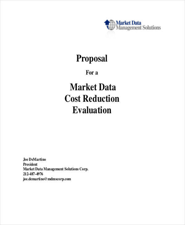 proposal for cost reduction
