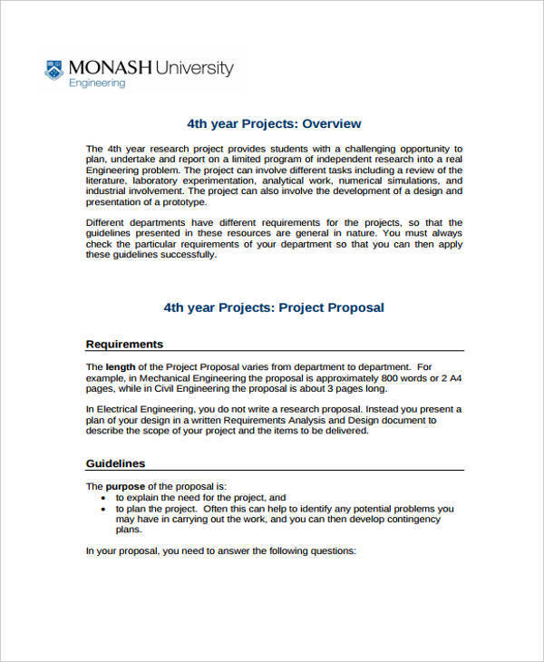 Thesis proposal help mechanical engineering pdf