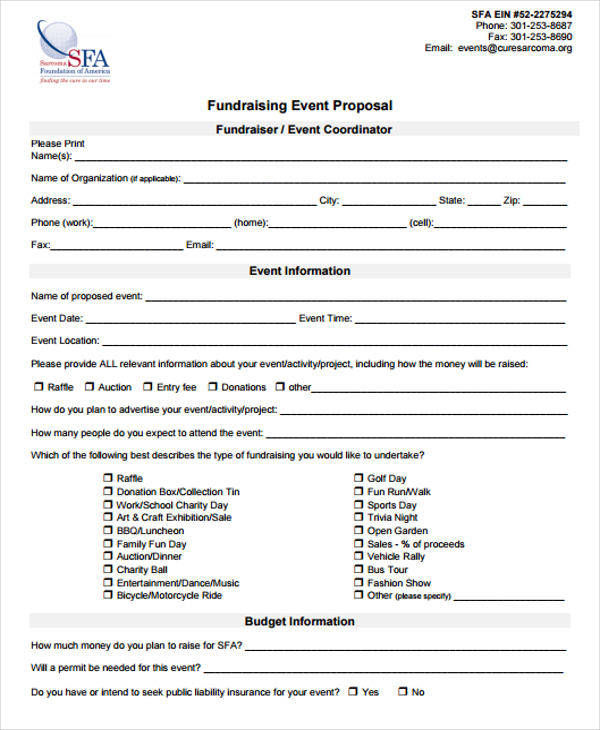 Proposal For Fundraising Event  Fundraising Proposal Template