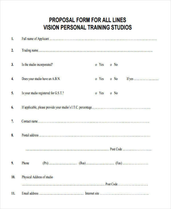 8 Training Proposal Templates - 8 Free Sample, Example Format Download