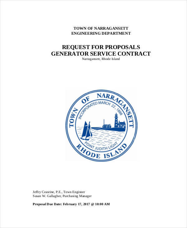 proposal for service contract