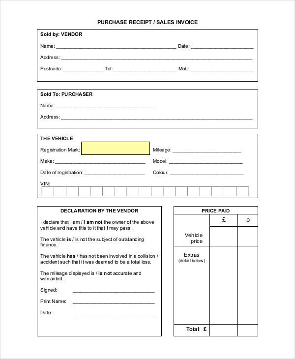 Purchase Invoice Templates Free Sample Example Format - Invoice sheet example
