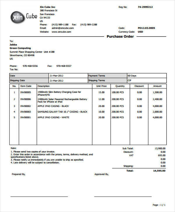 purchase order2