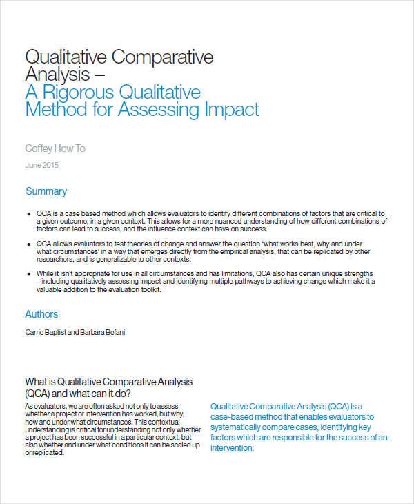 qualitative comparative