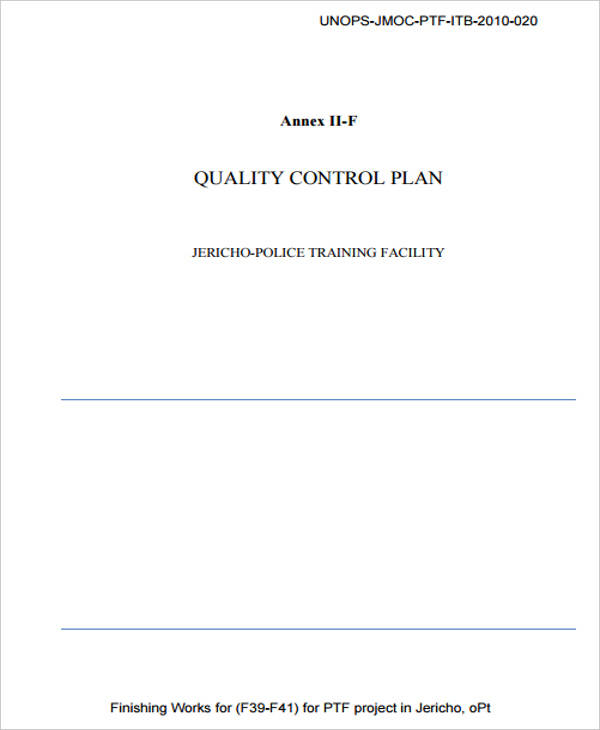 Control Plan Template  Free Sample Example Format Download