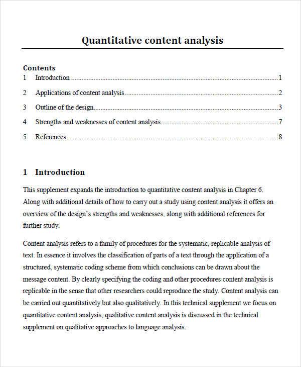 quantitative content